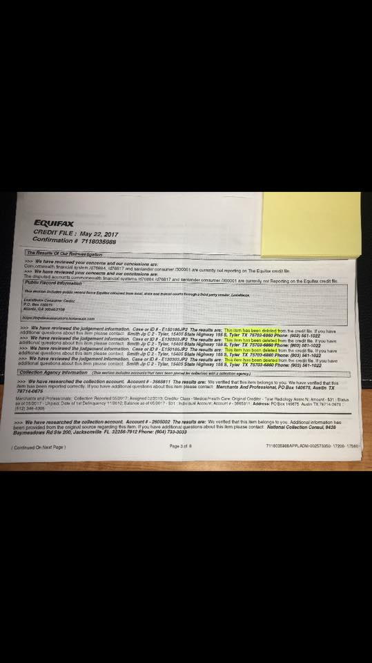 credit repair example of 4 Judgments deleted in 30-45 Days!
